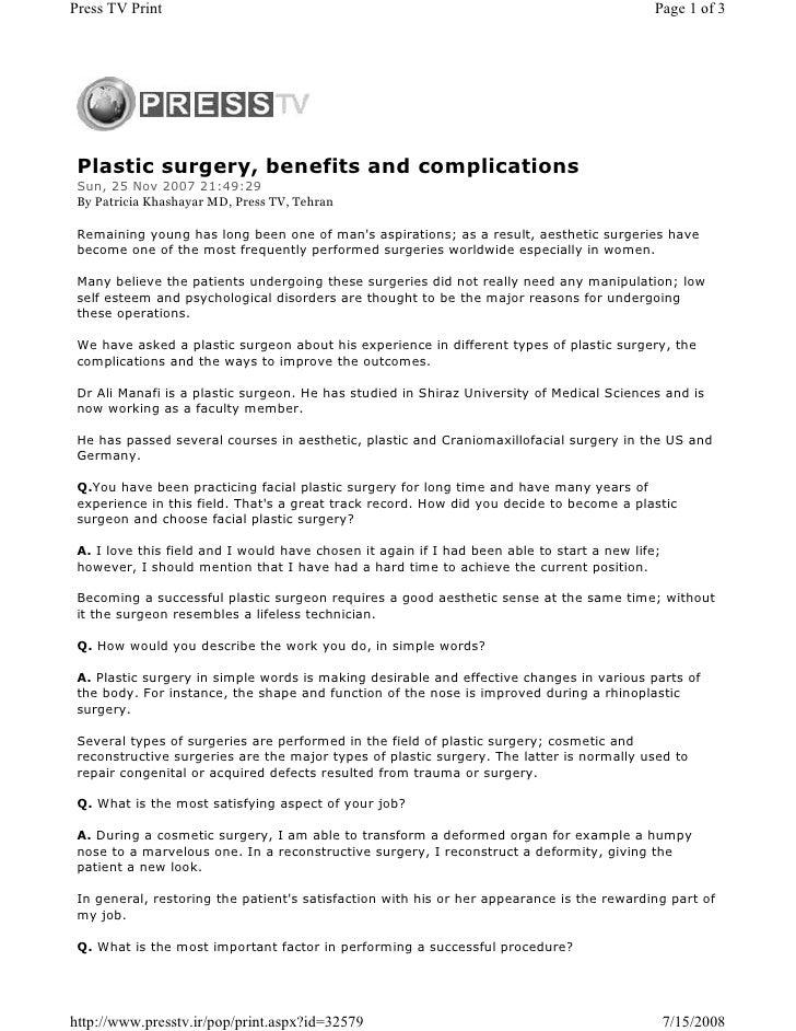 Press TV Print                                                                               Page 1 of 3      Plastic surg...