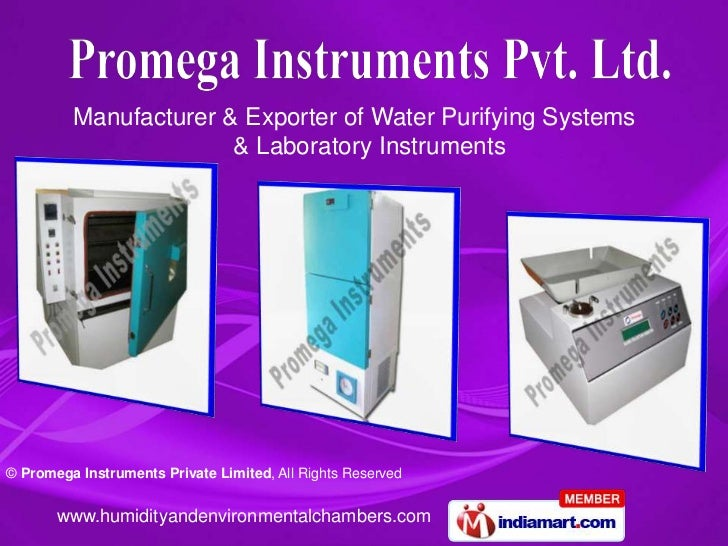 Manufacturer & Exporter of Water Purifying Systems                       & Laboratory Instruments© Promega Instruments Pri...