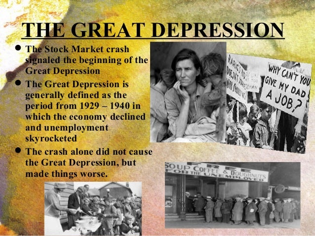 an analysis of the great depression in the stock market on october 29 1929 After the roaring twenties, a decade of partying, lavish living and social and cultural change, americans thought the rising stock market and good times would last forever on sept 3, 1929 the .