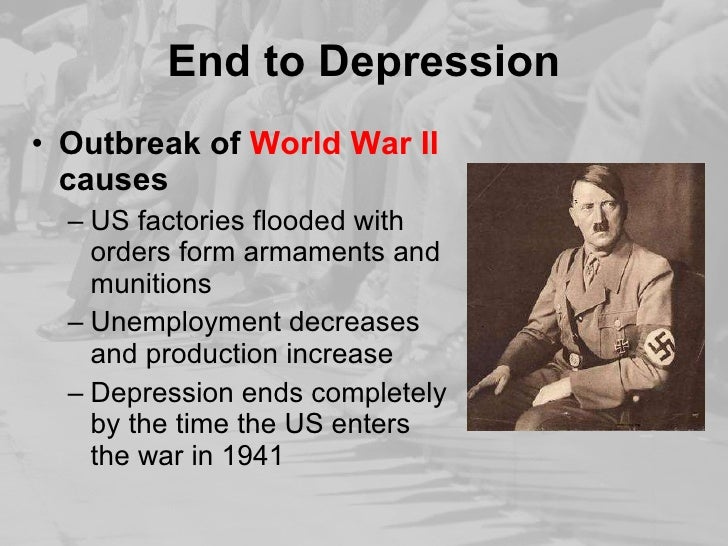 How did World War II cause the end of the Great Depression?