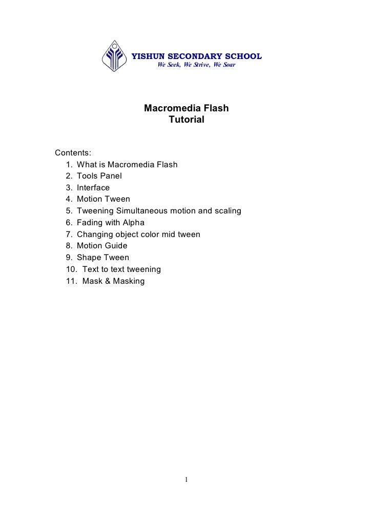 YISHUN SECONDARY SCHOOL                          WeSeek,WeStrive,WeSoar                           MacromediaFlash ...