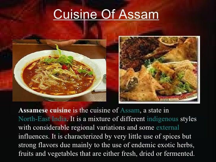 Assam tourism ppt for Assamese cuisine