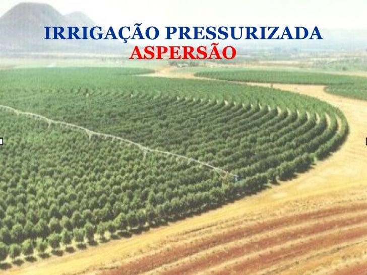 IRRIGAÇÃO PRESSURIZADA ASPERSÃO