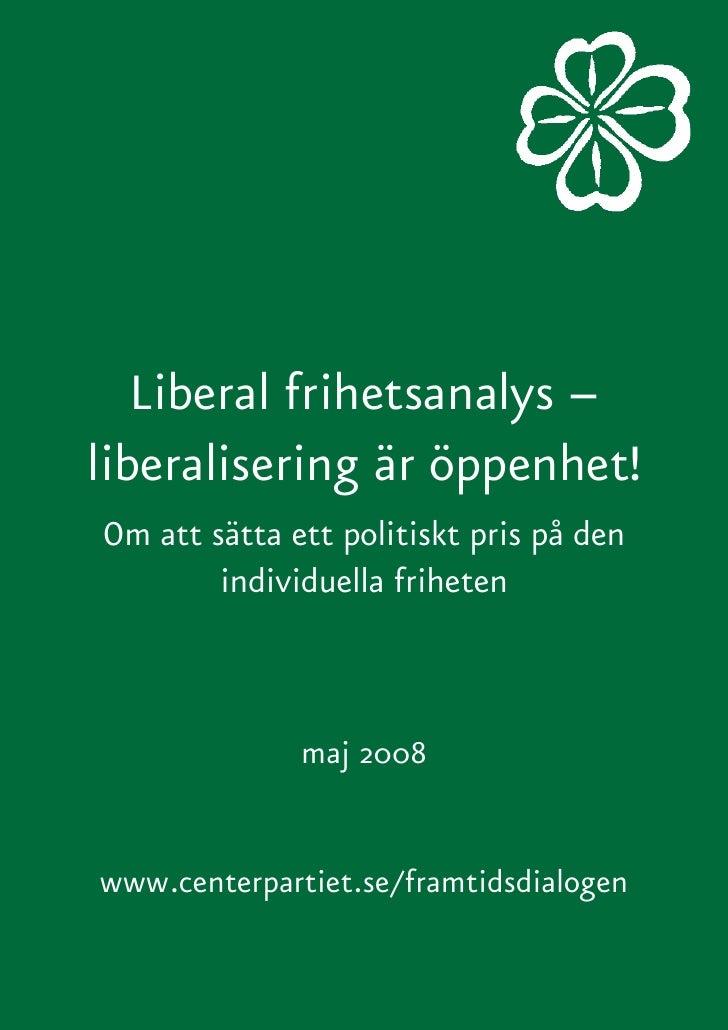 Liberal Frihetsanalys