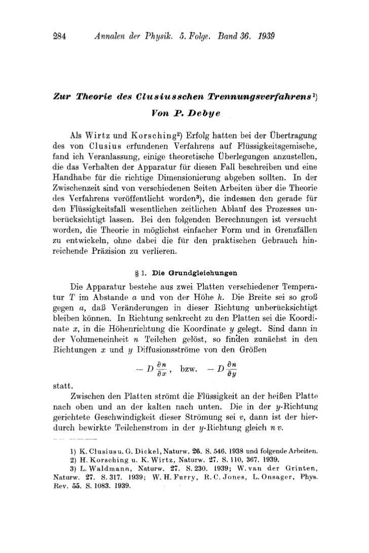 284          Annalen der Physik. 5. Folge. B a d 36. 1939Z u r l'heorie des CZu siusscherz lkerznungsverfahrens I)        ...