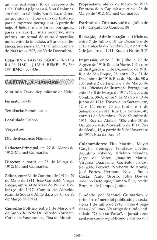A Capital 1910-1938