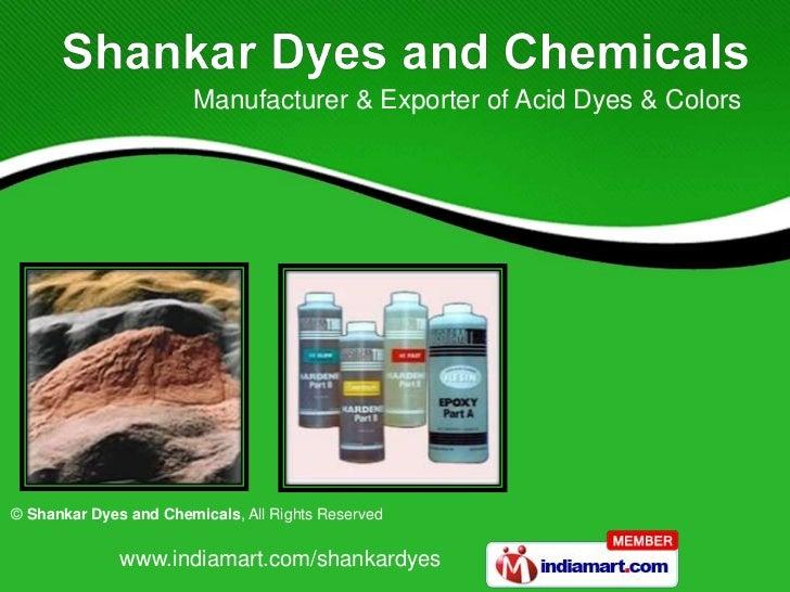 Manufacturer & Exporter of Acid Dyes & Colors<br />