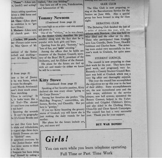 1945 School paper