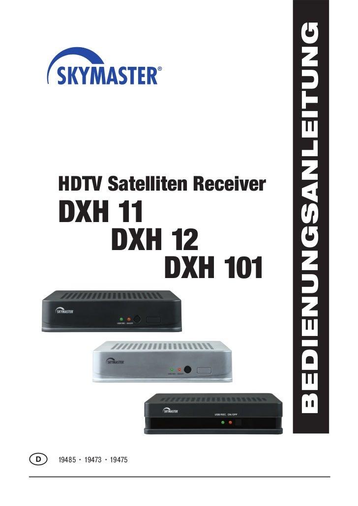 BEDIENUNGSANLEITUNG    HDTV Satelliten Receiver    DXH 11       DXH 12           DXH 101D   19485 • 19473 • 19475   Page 51