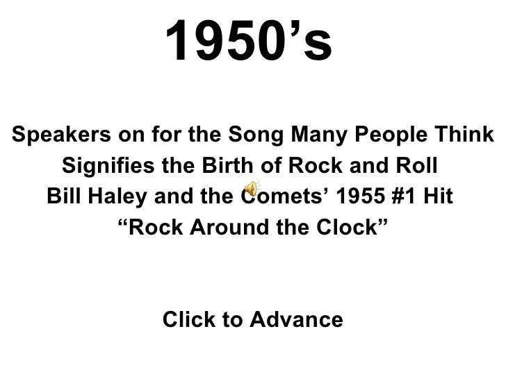 1950's Speakers on for the Song Many People Think Signifies the Birth of Rock and Roll  Bill Haley and the Comets' 1955 #1...