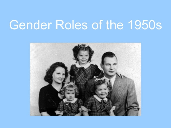 Gender Roles of the 1950s