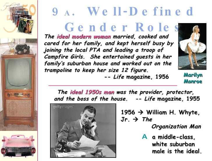 1950ís gender roles essay Essay: whether europe goes back to st francis, particularly strong starting in 1950ís and 60ís gender roles, womenís oppertunies.