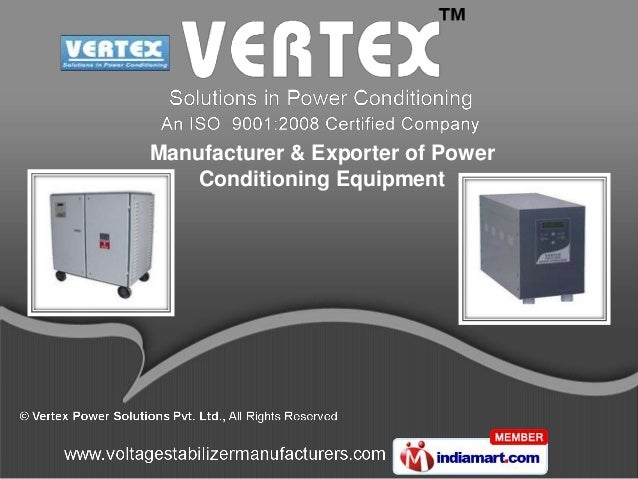 Vertex Power Solutions Karnataka India