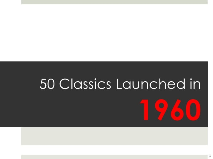 50 Classics Launched in 1960<br />0<br />