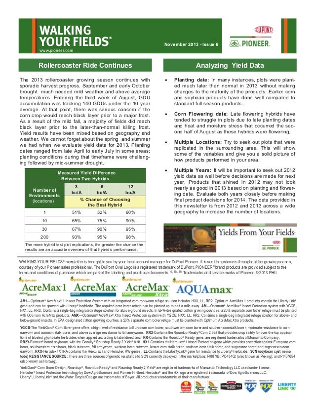 Northeast MN & northern WI Yields from Your Fields-Nov