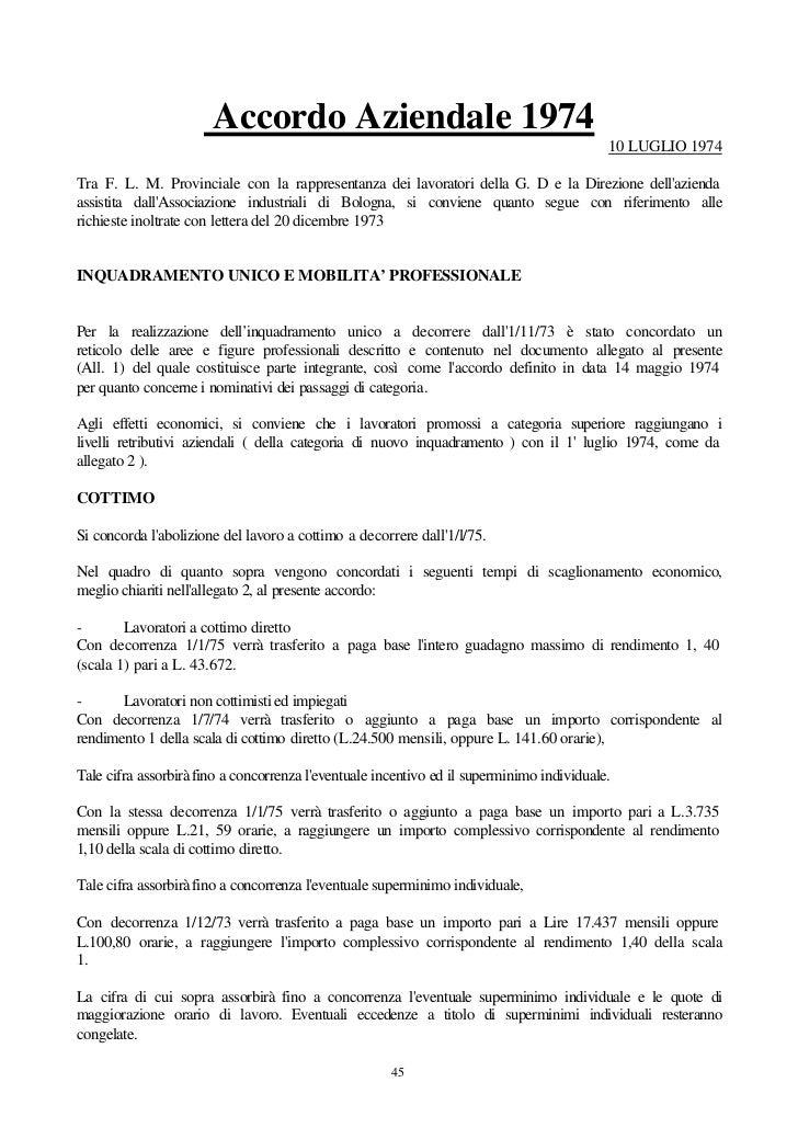 Accordo Aziendale 1974                                                                                           10 LUGLIO...