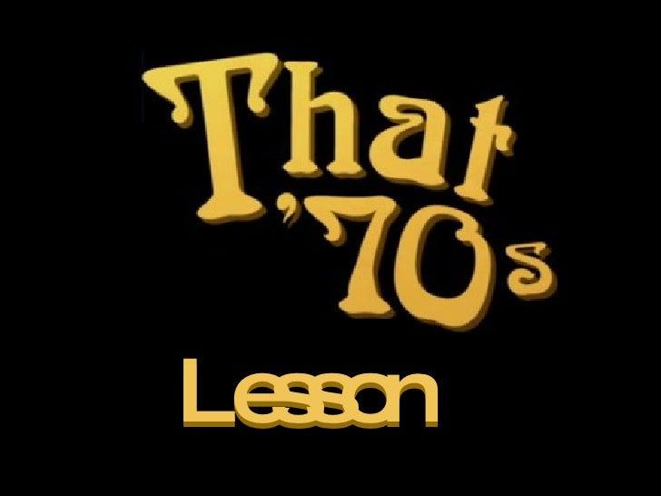 Lesson Lesson