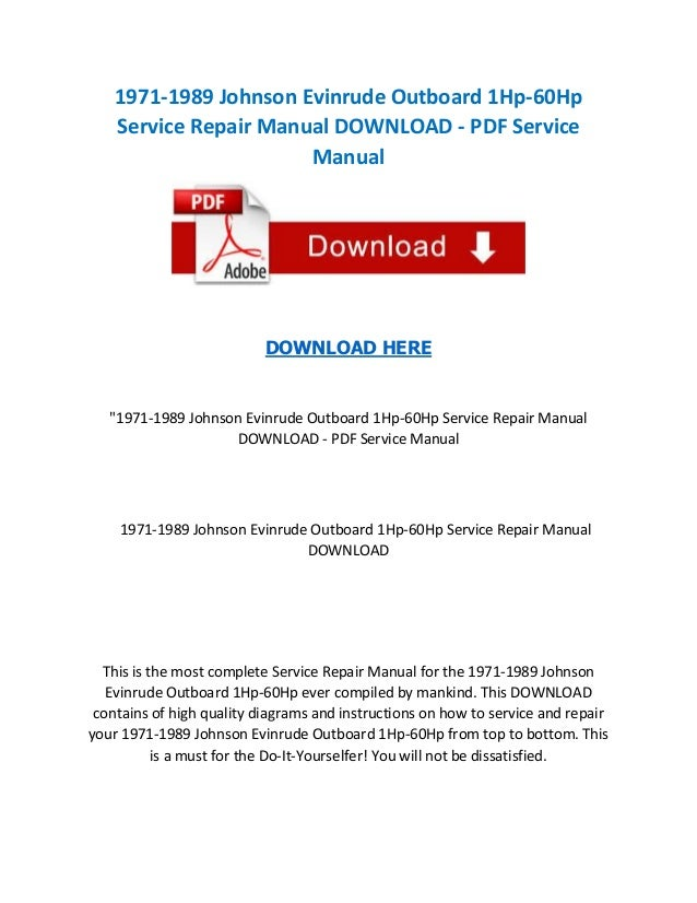 Servicemanualsrepair page 39 of 63 download workshop for How to service johnson outboard motor