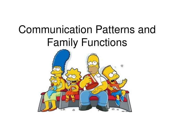 Communication Patterns and Family Functions<br />