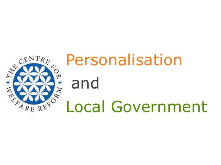 PersonalisationandLocal Government