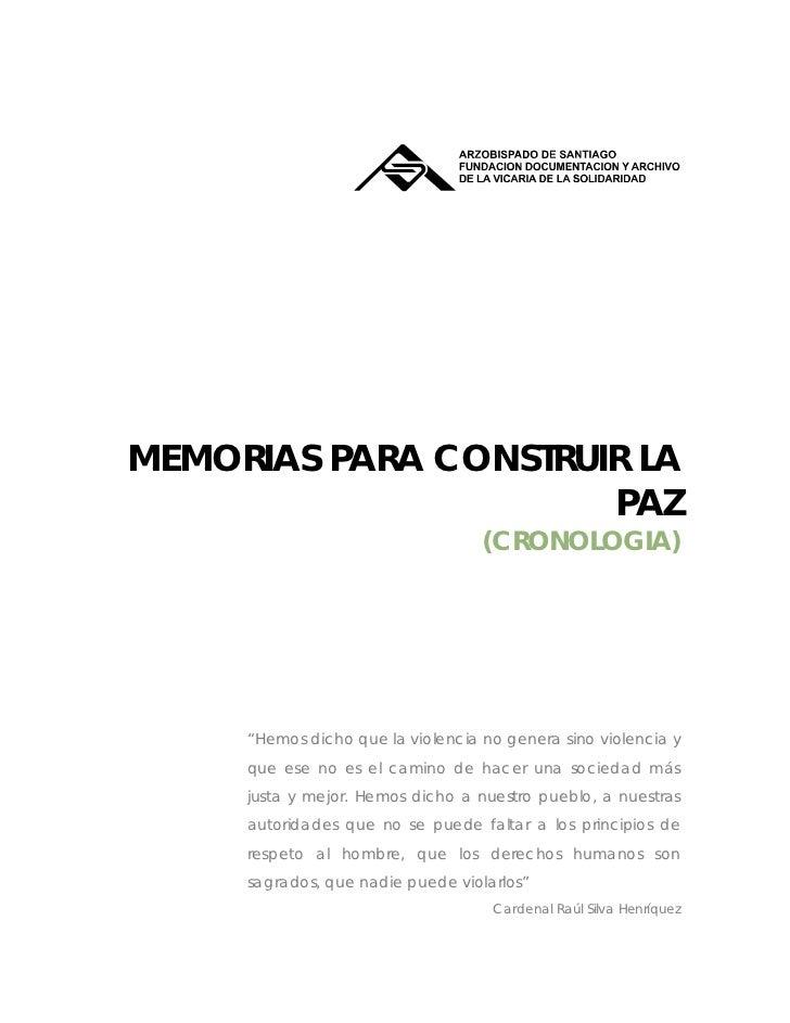 MEMORIAS PARA ...