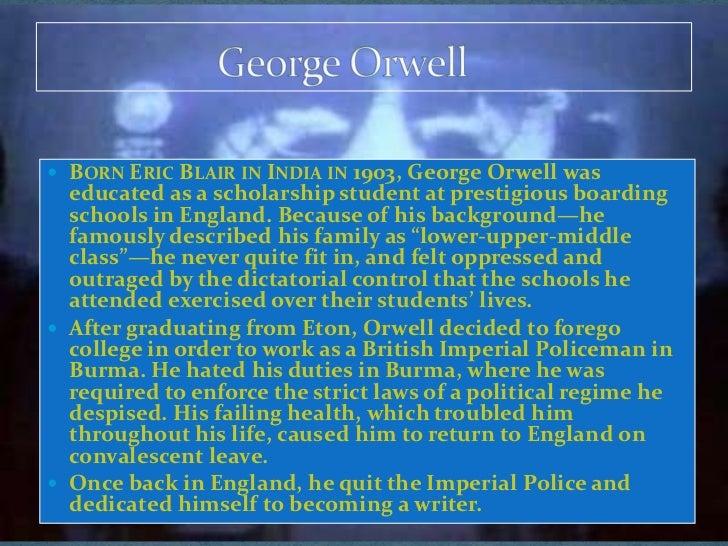 george orwell was a political writer