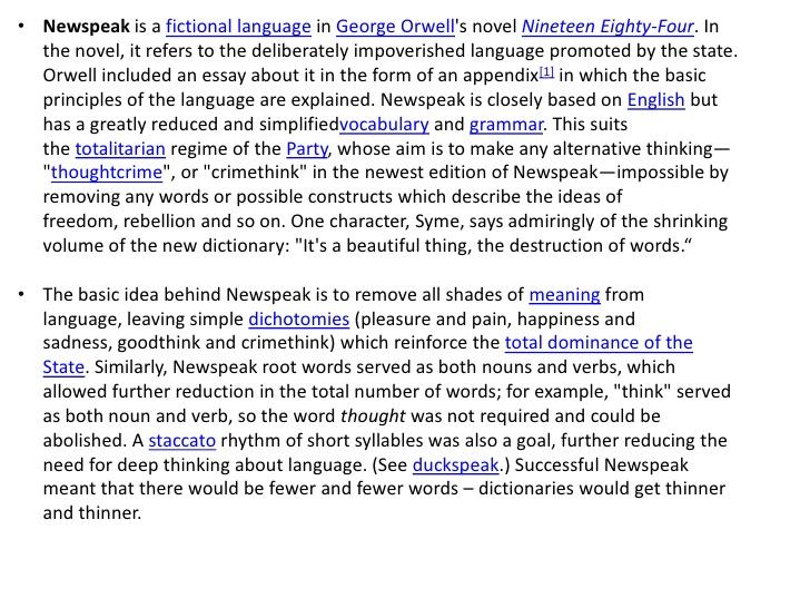 A look at Orwell s Newspeak   OxfordWords blog
