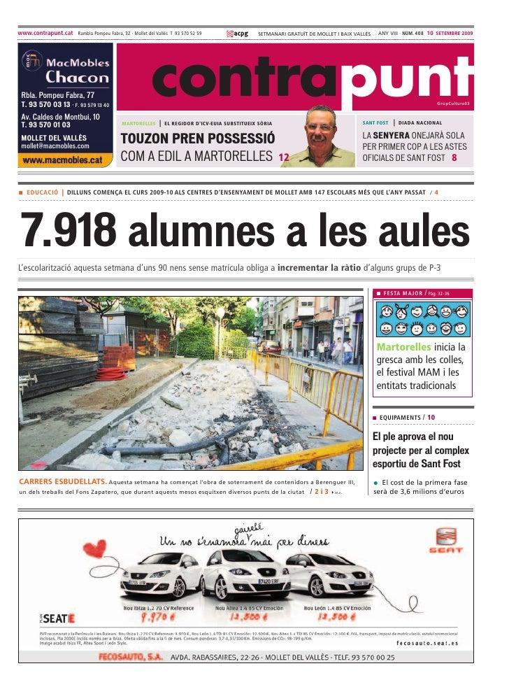 www.contrapunt.cat Rambla Pompeu Fabra, 32 · Mollet del Vallès T 93 570 52 59                   SETMANARI GRATUÏT DE MOLLE...