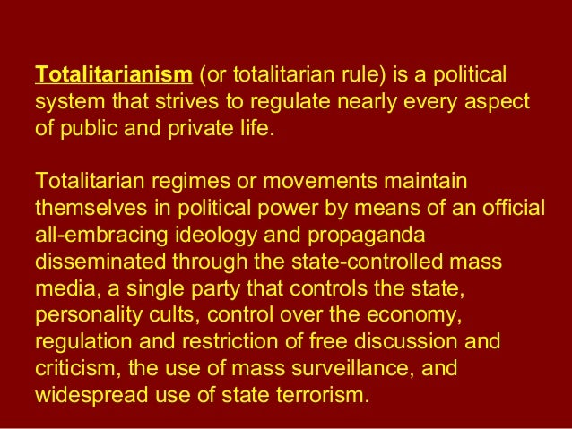 Buy totalitarianism essay