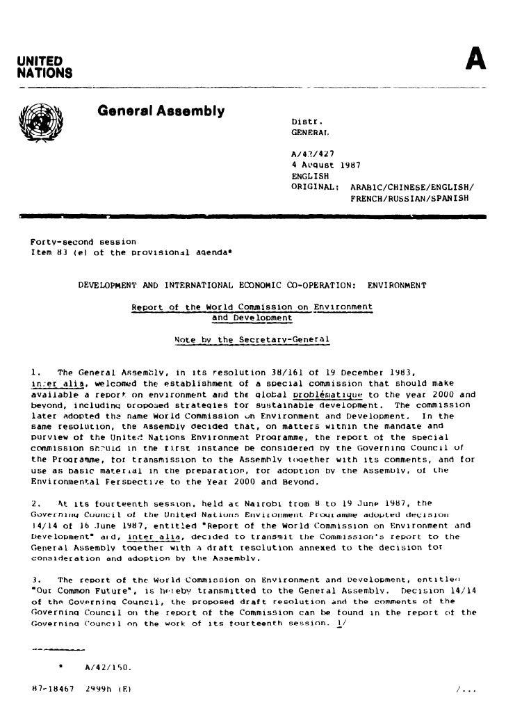 1987 Brundtland Report