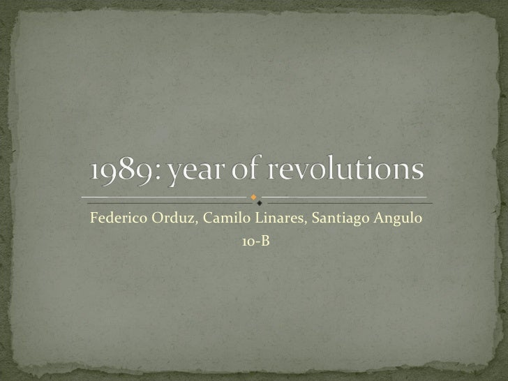 1989: year of revolutions