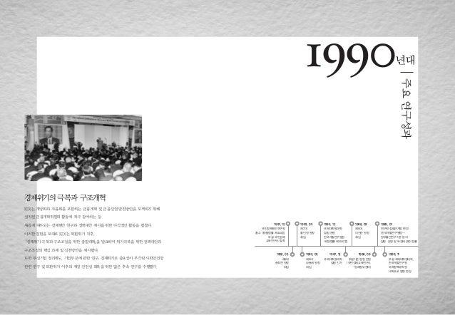 대한민국 정책연구의 산실(1990년대 주요 연구성과)