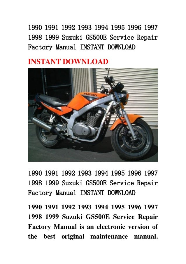 1990 1991 1992 1993 1994 1995 1996 1997 1998 1999 Suzuki Gs500 E Serv U2026