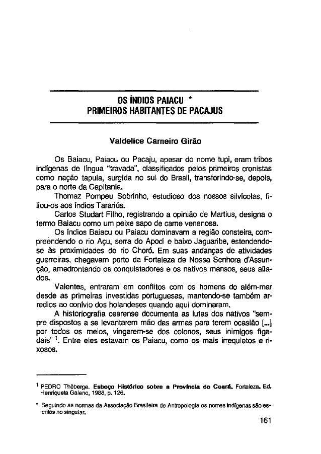 1991 os indiospaiacuprimeiroshabitantesdepacajus
