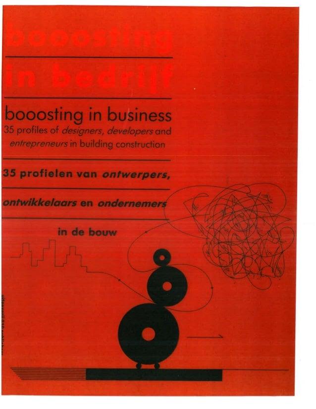 1992   booosting in bedrijf - 35 profielen van ontwerpers, ontwikkelaars en ondernemers in de bouw