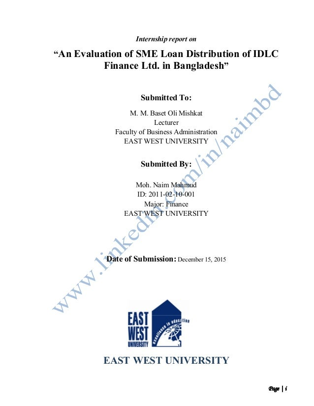 intern report on bangladesh development bank limited Loan performance and micro-credit analysis of bangladesh development bank ltd this internship report is submitted in a partial during my internship.