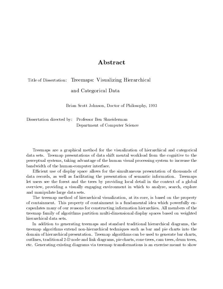 AbstractTitle of Dissertation:   Treemaps: Visualizing Hierarchical                         and Categorical Data          ...