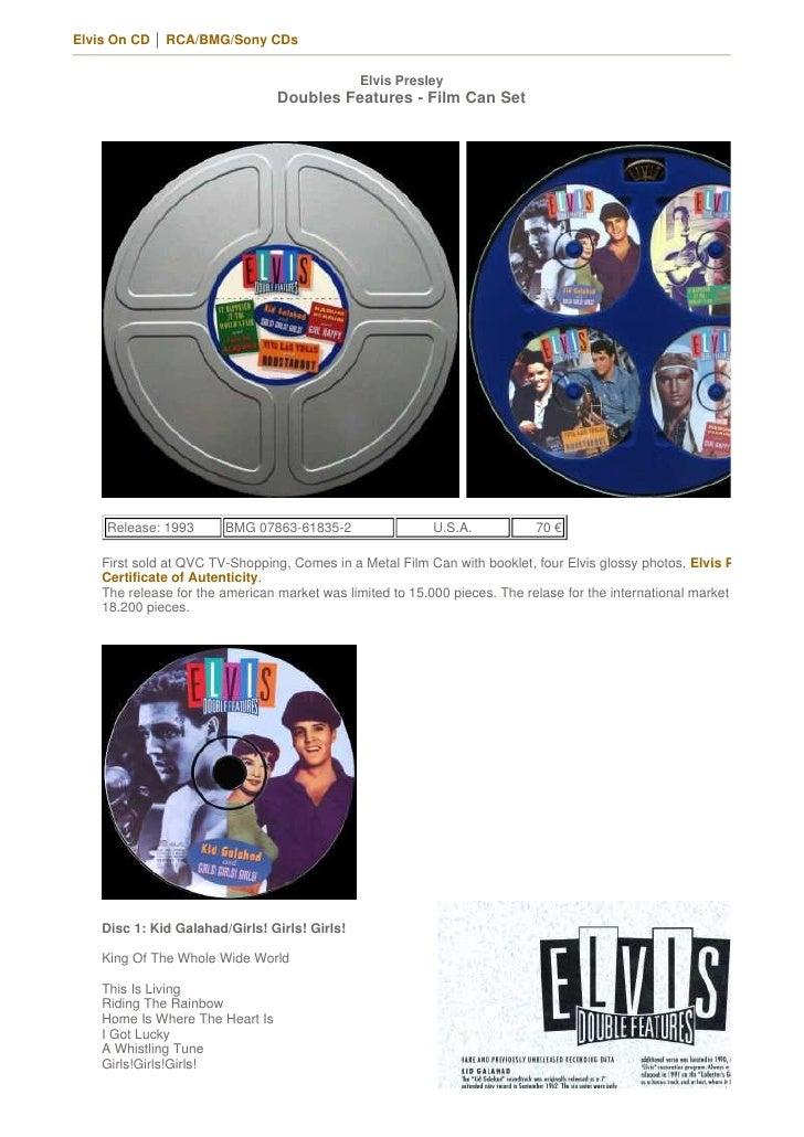 Elvis On CD │ RCA/BMG/Sony CDs                                                 Elvis Presley                              ...