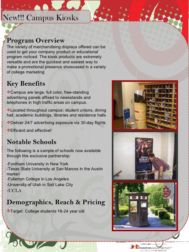 <ul><li>Program Overview The variety of merchandising displays offered can be used to get your company product or educatio...