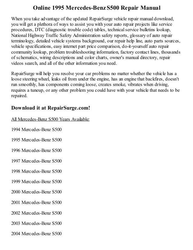 mercedes benz online repair manual