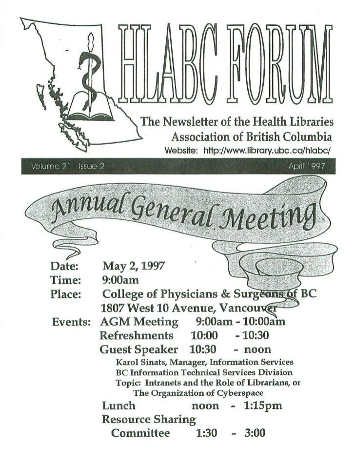 HLABC Forum: April 1997