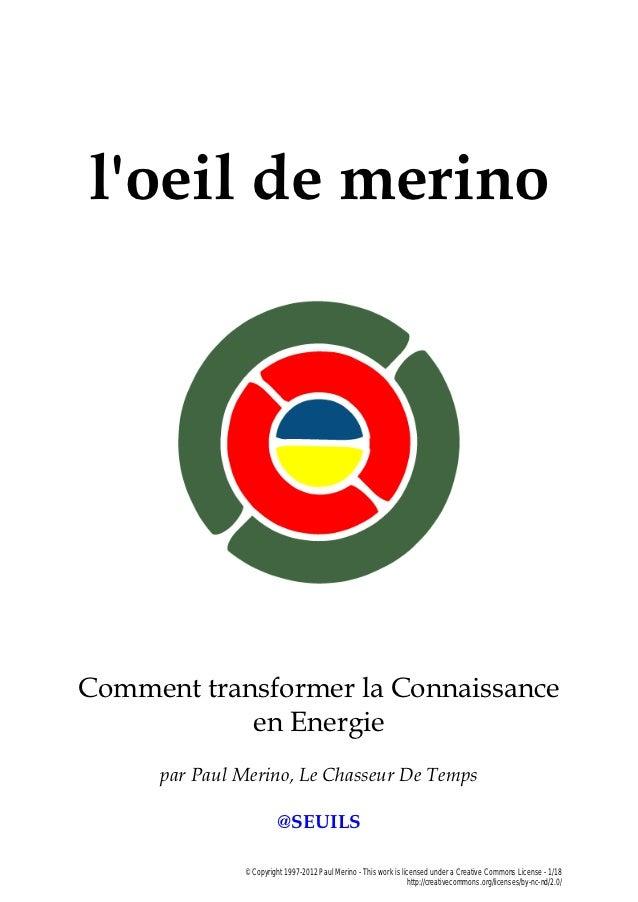 L'Oeil de Merino - Comment Transformer La Connaissance En Energie