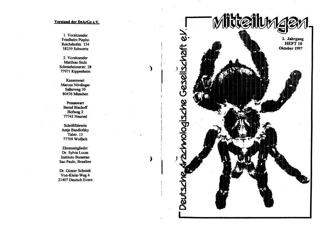 DeArGe Mitteilungen 10/1997