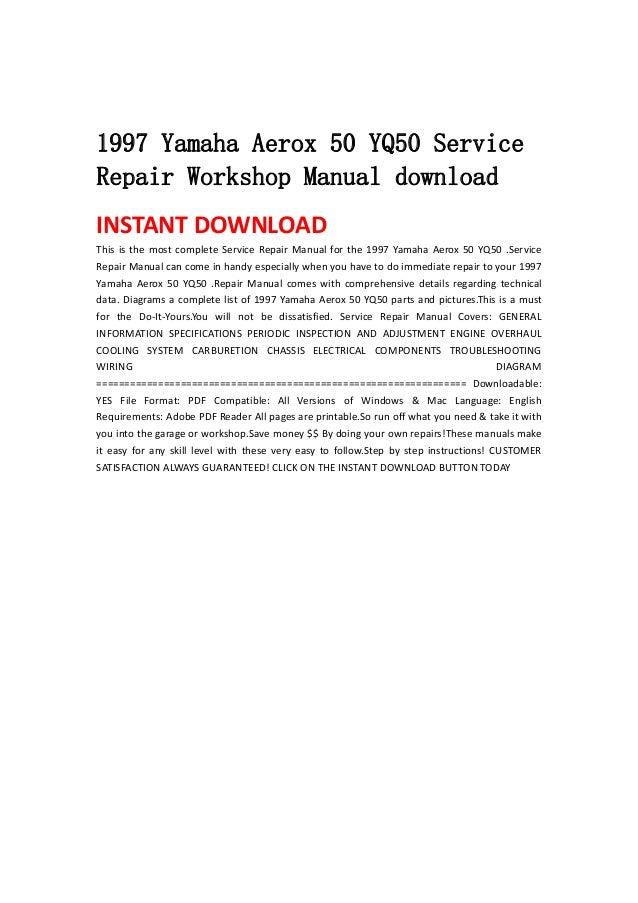 yamaha workshop manual free download