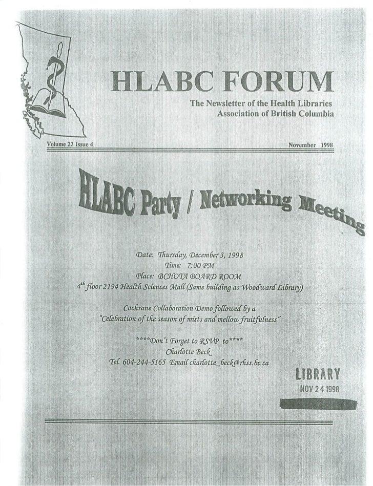 HLABC Forum: November 1998