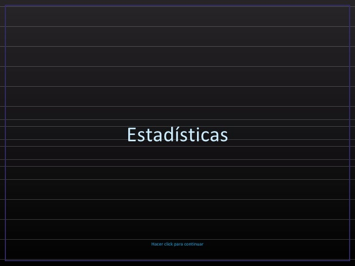 Estadísticas (por: carlitosrangel)