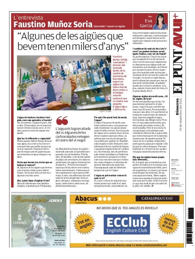 Per                  L'entrevista                  Faustino Muñoz Soria                                                   ...