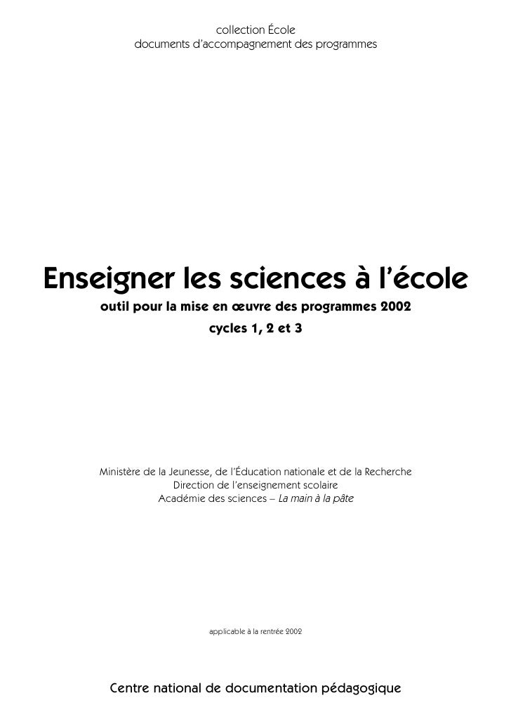 19 Enseigner Sciences