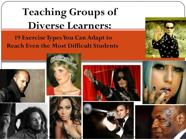 19 ExerciseTypesYou Can Adapt to Reach Even the Most Difficult Students Teaching Groups of Diverse Learners: