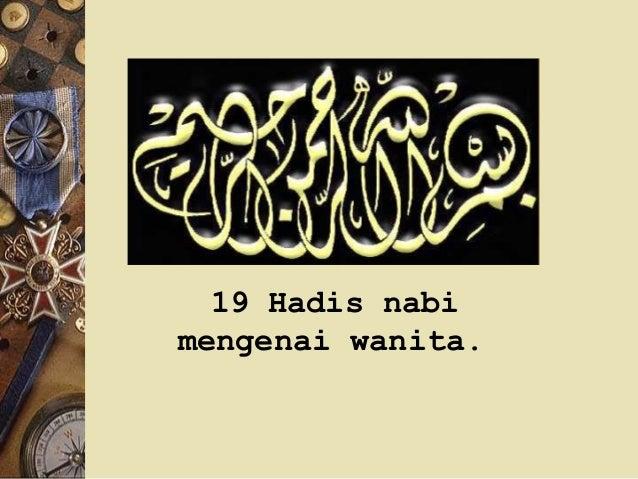 19 Hadis nabi mengenai wanita.